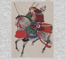 Japanese Samurai on Horseback One Piece - Long Sleeve