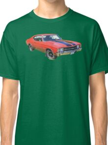 Red 1971 chevrolet Chevelle SS Muscle Car Classic T-Shirt