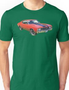 Red 1971 chevrolet Chevelle SS Muscle Car Unisex T-Shirt
