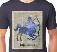 Sagittarius Archer Space Stencil Dictionary Art Unisex T-Shirt