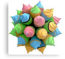 Digitale Cupcakes Metal Print
