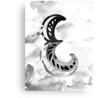 Letter E Alphabet Abstract Watercolour Textured Canvas Print