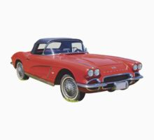 1962 Chevrolet Corvette Convertible Antique Car Kids Clothes