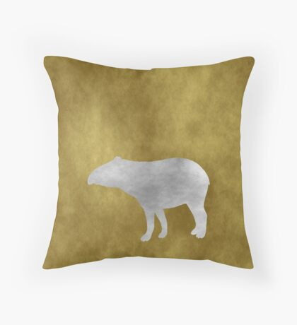 Grunge Tapir Throw Pillow