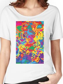 Very coloured map, spot of paint.  Women's Relaxed Fit T-Shirt