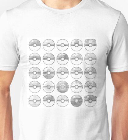 Pokemon Pokeball Gray Unisex T-Shirt