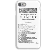 The Tragedy of Hamlet iPhone Case/Skin