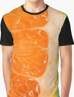 Blood Orange Slice Macro Details Graphic T-Shirt