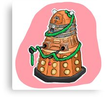 Tinsel Dalek Canvas Print