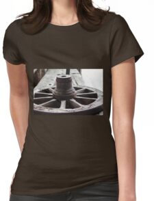 Old wooden wheel Womens Fitted T-Shirt