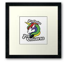 PRO CHOICE PRO UNICORNS  Framed Print
