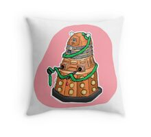 Tinsel Dalek Throw Pillow
