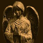 Golden Angel Praying by Marie Sharp