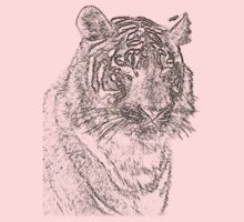 colored tiger, siberian tiger Baby Tee