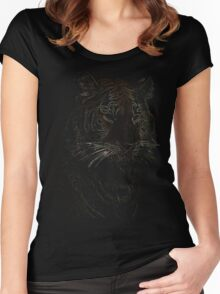 colored tiger, siberian tiger Women's Fitted Scoop T-Shirt