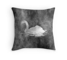 Melancholic Black Swan Throw Pillow