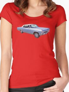 1965 Chevy Impala 327 Convertible Classic Car Women's Fitted Scoop T-Shirt