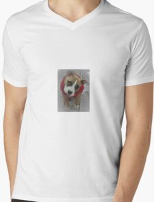 Puppy Topopo in the snow Mens V-Neck T-Shirt