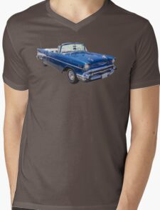 1957 Chevrolet Bel Air 2-door Convertible Mens V-Neck T-Shirt