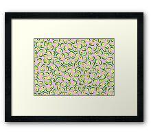 Avocado Love, Pink Framed Print