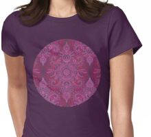 Magenta, Pink & Coral Protea Doodle Pattern Womens Fitted T-Shirt