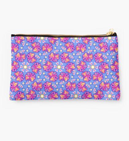 Butterflies, butterfly, heart, flower, mandala, pattern design, sample, ornaments, Studio Pouch