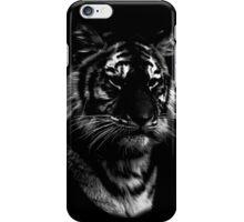 tiger, black shirt iPhone Case/Skin