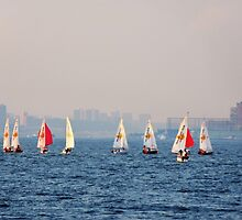 Racing on the Hudson - NYC by Poete100