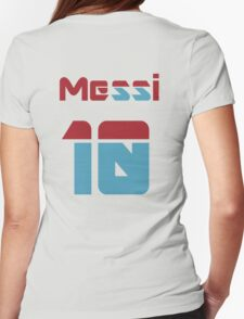 Messi 10 Womens Fitted T-Shirt