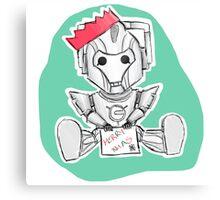 Christmas Cyberman Canvas Print