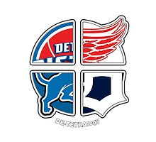Detroit Pro Sports TETRAlogy! Red Wings, Lions, Pistons and Tigers by Sochi