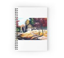 Water Mill house in autumn Spiral Notebook