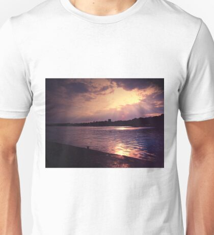 SEA  IMPRESSION IN PURPLE Unisex T-Shirt