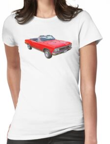 1966 Chevrolet Chevelle Convertible 283 Muscle Car  Womens Fitted T-Shirt