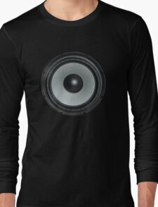 Black Speaker Long Sleeve T-Shirt