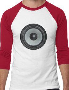 Black Speaker Men's Baseball ¾ T-Shirt
