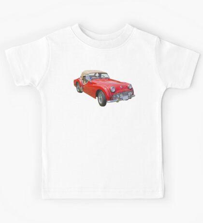 1957 Triumph TR3 Convertible Sports Car Kids Tee