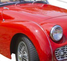 1957 Triumph TR3 Convertible Sports Car Sticker