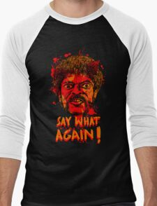 Pulp Fiction say what again! Men's Baseball ¾ T-Shirt