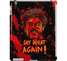 Pulp Fiction say what again! iPad Case/Skin