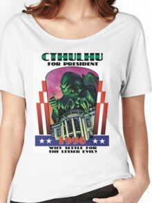Retro CTHULHU FOR PRESIDENT 1996 T-Shirt Women's Relaxed Fit T-Shirt