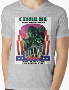 Retro CTHULHU FOR PRESIDENT 1996 T-Shirt Mens V-Neck T-Shirt