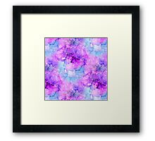 Pink Alcohol Ink Abstract Framed Print