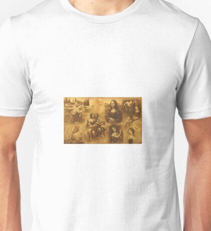 In the honor to the great art masters through the history-Leonardo Da Vinci Unisex T-Shirt