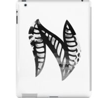 Letter N Alphabet Abstract Watercolour white iPad Case/Skin