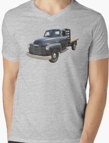 1950 Chevrolet Flat Bed Antique Pickup Truck Mens V-Neck T-Shirt
