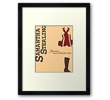 Adventurer Samantha Sterling Framed Print