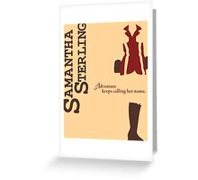 Adventurer Samantha Sterling Greeting Card