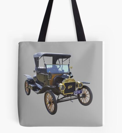 1914 Model T Ford Antique Car Tote Bag