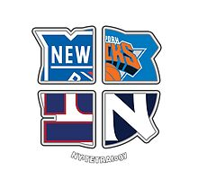 New York Pro Sports TETRAlogy! Yankees, Giants, Rangers and Knicks by Sochi